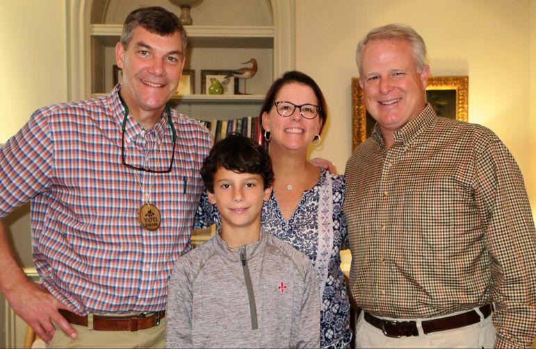 Yates with Harrison, Kirki, & Steve Fuller