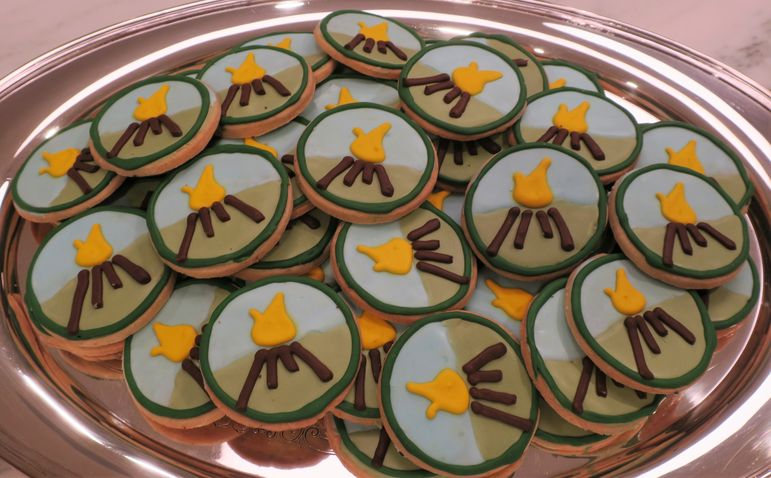 Emily shared some beautiful cookies at the New York Reunion and Movie Show!