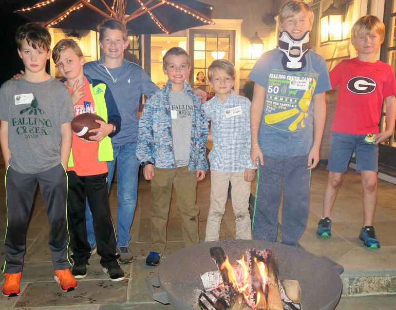 Catching up around the campfire in Bronxville, NY