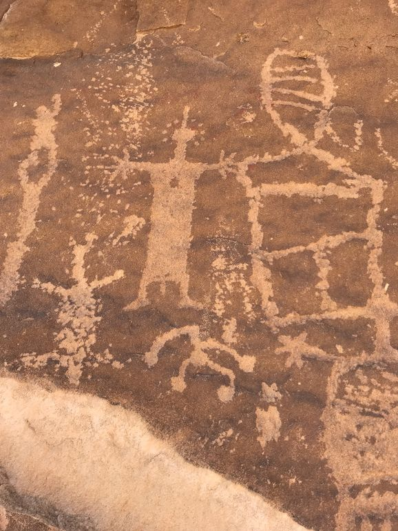 Petroglyphs at the historical sites in Desolation Canyon