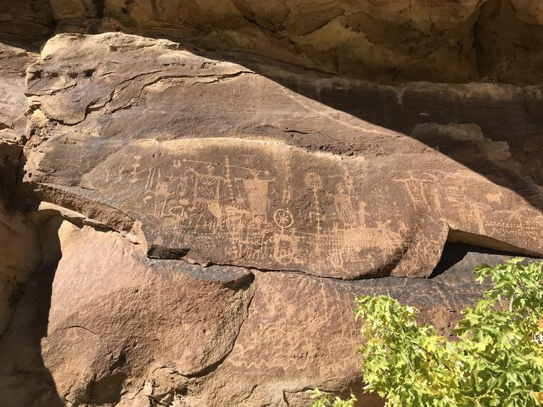 No one knows why the Fremont Indians created these petroglyphs, but they have been preserved in the rocks for generations