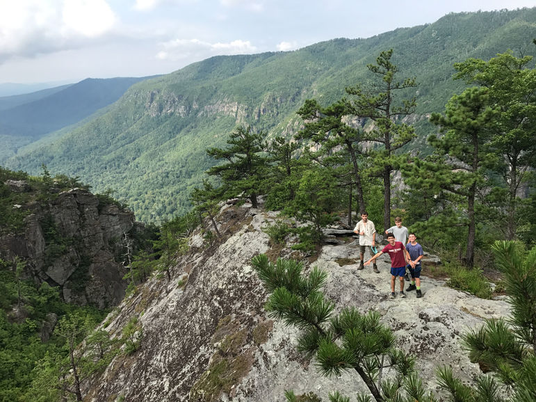 Incredible views during a 5-day backpacking trip that the boys took to Linville Gorge
