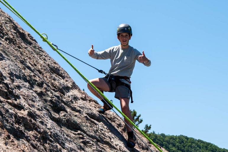 Rock on! Beautiful day for climbing at Gilbert's Rock