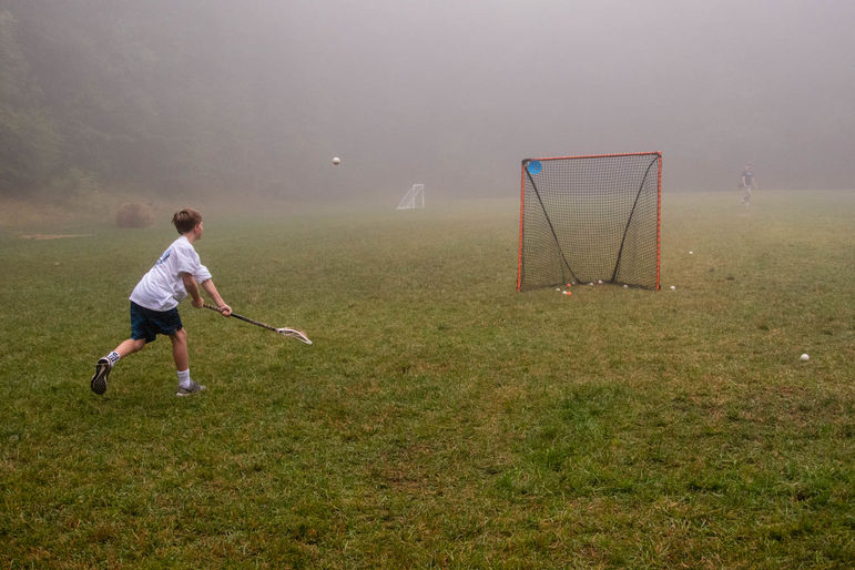 Foggy but beautiful morning at lacrosse today