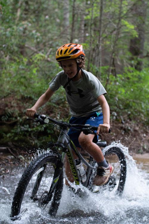 Splashing through the creeks at Dupont