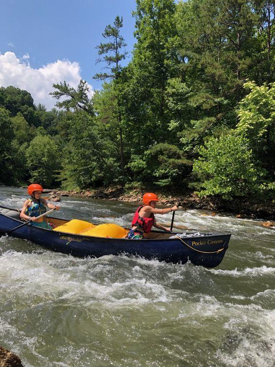 Navigating the Tuckasegee River today