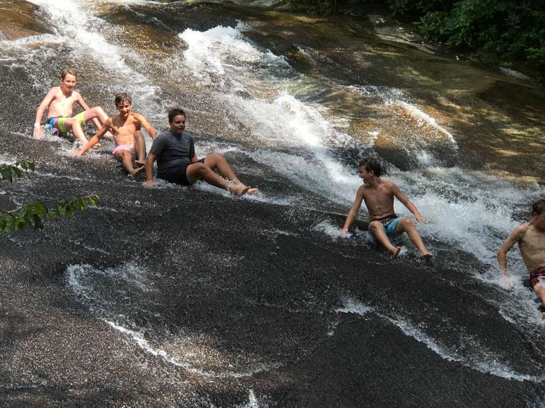 Cooling off at Sliding Rock!
