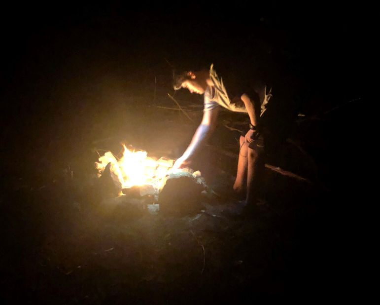 Keeping the fire going during a part of last summer's Journey