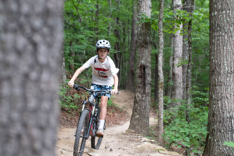 One of our mountain bike trips at Dupont today