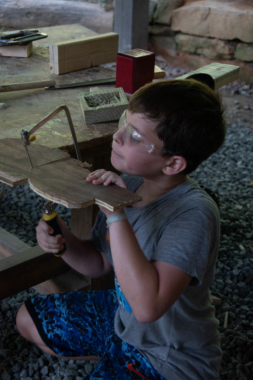 Fully focused on our woodworking projects