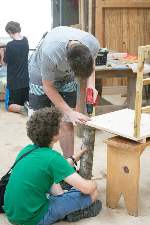 Building a chair in woodworking