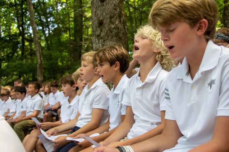 Singing along during Church