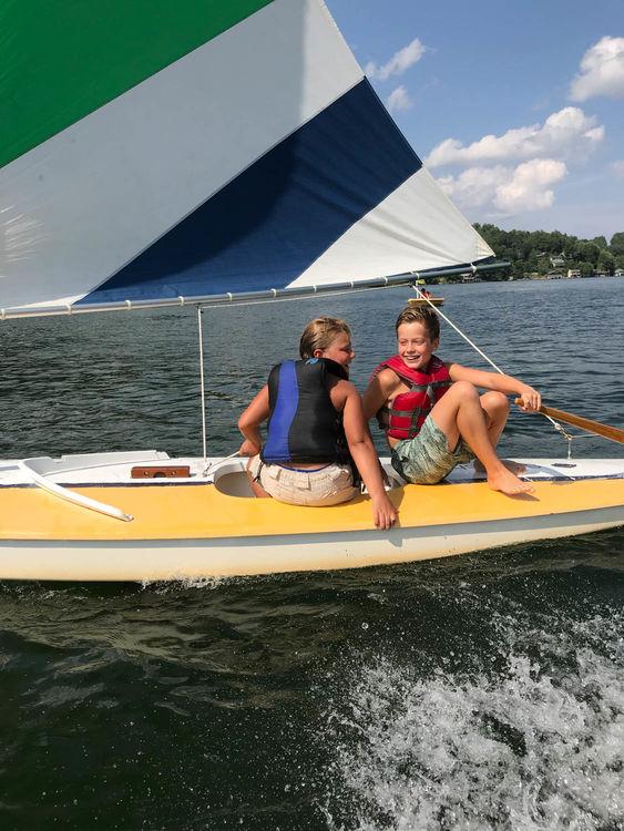 Sailing away at Lake Summit!