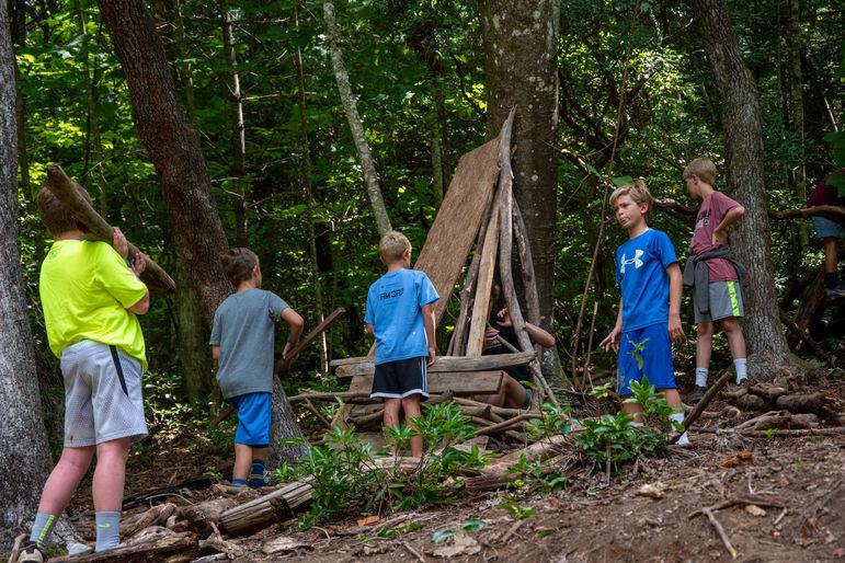 Fortbuilding- a quintessential summer activity!