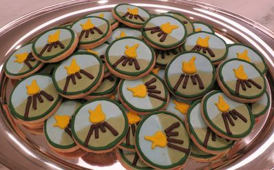 Emily and Mark Liggitt served delicious home made FCC logo frosted cookies when they hosted in Bronxville, NY in November 2018