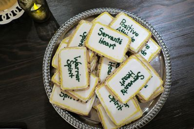 The West Family served beautiful FCC CODE frosted cookies and they were a huge hit.