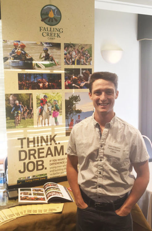 Sam was a familiar face at the college job fairs during the Winter and Spring, focused on recruiting the best for camp!
