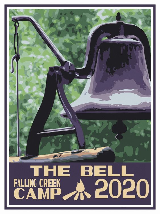 The new 2020 trunk sticker: featuring the camp bell!