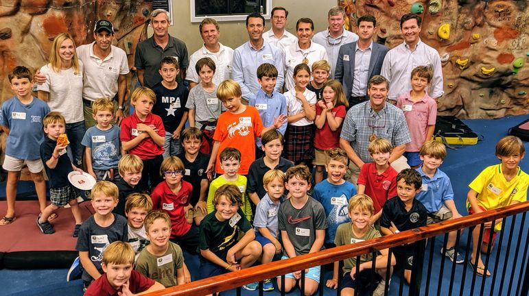 Our Charleston group of boys, camp staff, camp alumni, and dads who have attended Father/Son Weekends. A great group!