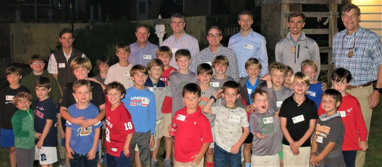 Our Raleigh campers, including all dads who have attended Father/Son Weekends, staff, and alumni.