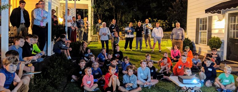 It was a beautiful fall night to enjoy the Falling Creek Camp Movie outside at Cary & Gage Weekes home.