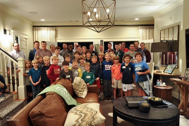 We were thrilled that there were a large group of alumni, staff, and dads who have attended Father/Son Weekend on Wednesday in Atlanta that joined the boys for a big group photo. Thanks to alumnus Ken Cochran for this photo.