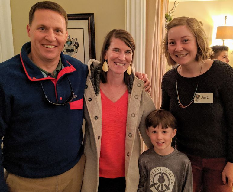 Garrett and Erin Graham brought their son who will be returning to Falling Creek this summer. They are the Directors and Owners of nearby Camp Glen Arden where Annie served as an assistant program director and youngers sisters Jasmine and Danielle are returning to camp in 2020.