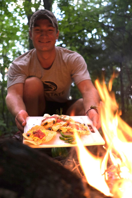 How's this for gourmet camp cooking?
